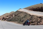 Descending Pikes Peak.